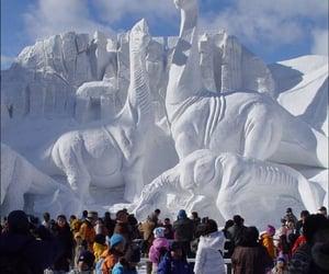 alaska, fairbanks, and snow sculpture image