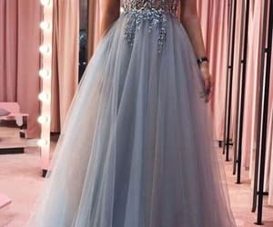 robe de soirée, gray prom dress, and cheap prom dresses image