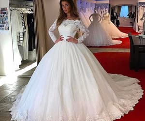 princess wedding dress, wedding ball gown, and vestido de novia image