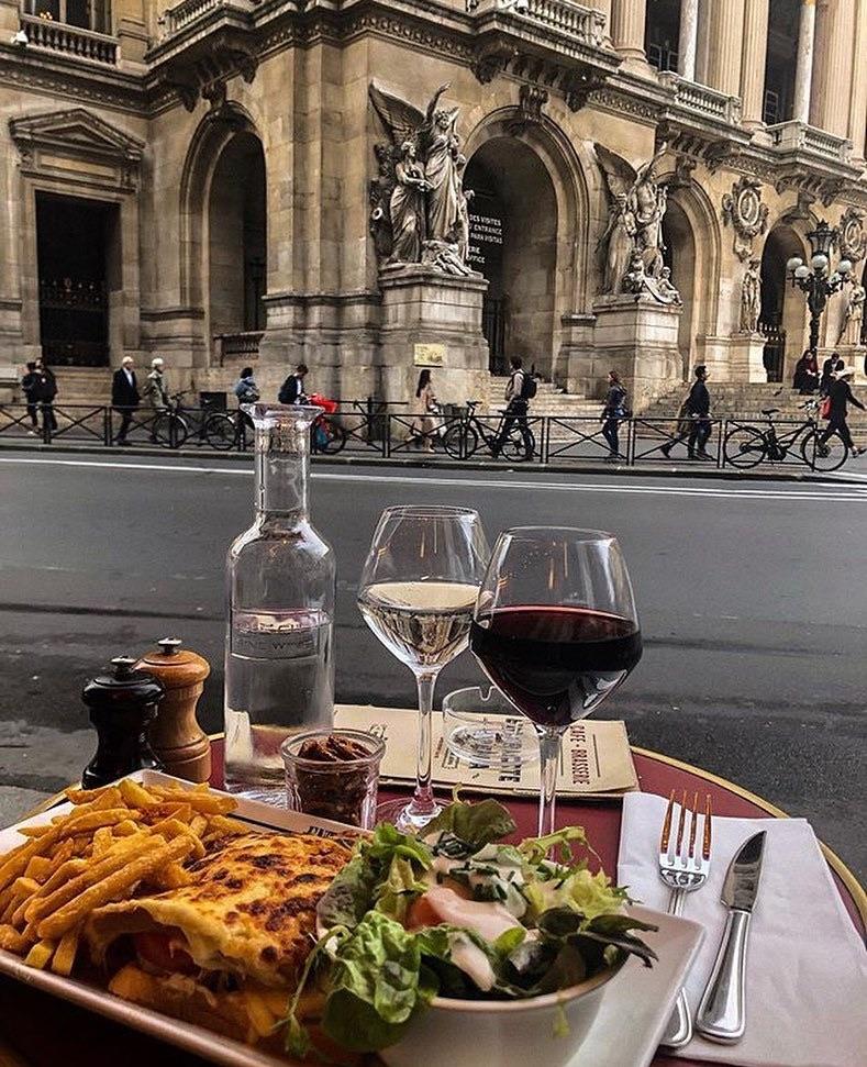 food, wine, and dinner image