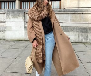 fashion, Yves Saint Laurent, and camel scarf image