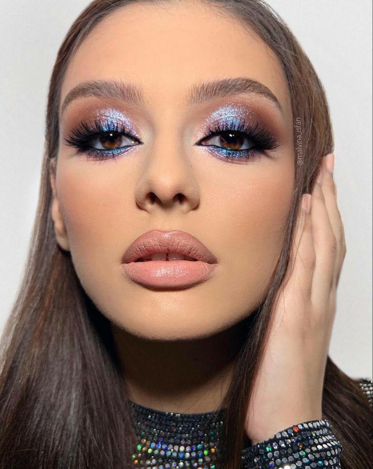 blue, makeup, and blue makeup image