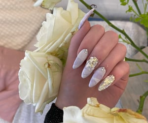 acrylics, flowers, and girly image