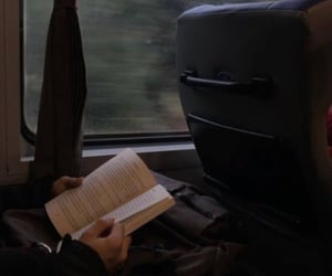 book, aesthetic, and train image