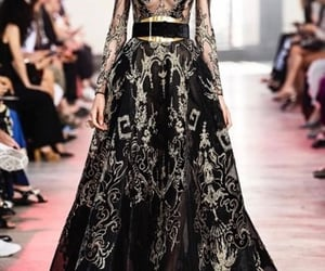 black, elie saab, and ideas image