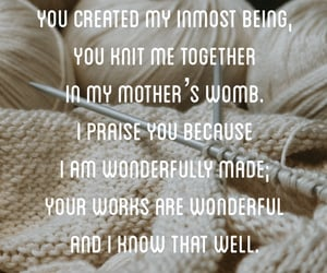 bible, creation, and knit image