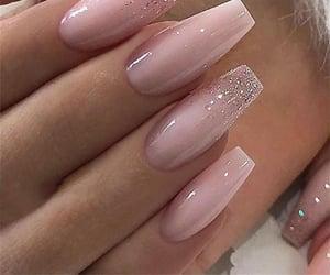 acrylics, glitter, and glitter nails image