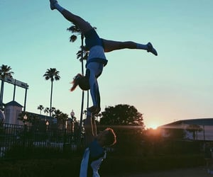 boy, flexible, and girl image