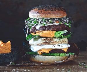 burger, burgers, and cheese image