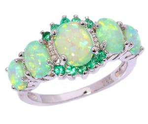 emerald, jewelry, and wedding image