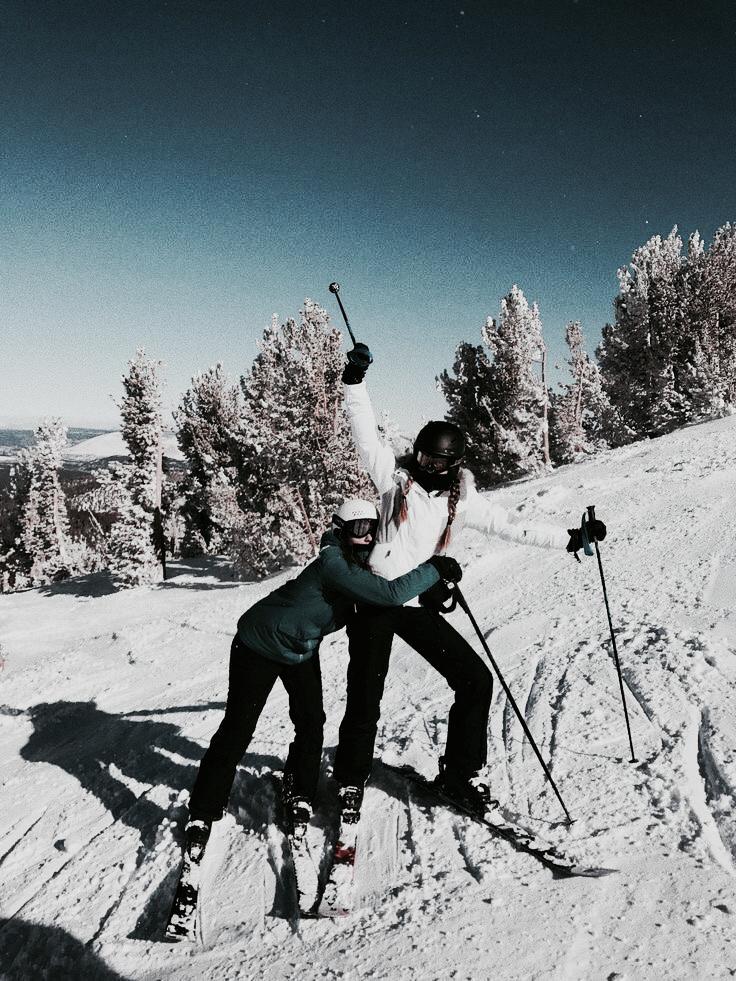 friends, ski, and Skiing image