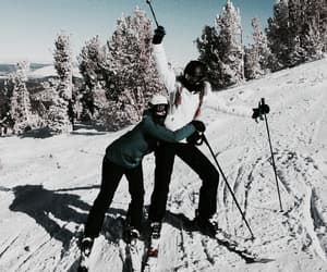 friends, ski, and Skiing image