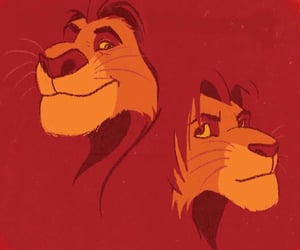 simba, the lion king, and mufasa image