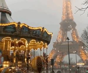 carousel, paris, and gif image