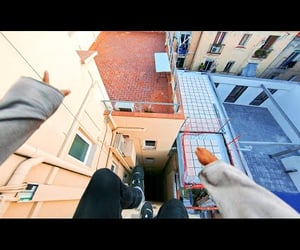 flip, parkour, and POV image
