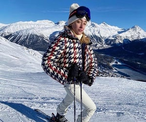 clothes, outfit, and snow image