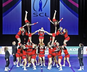 cheer, pyramid, and sport image
