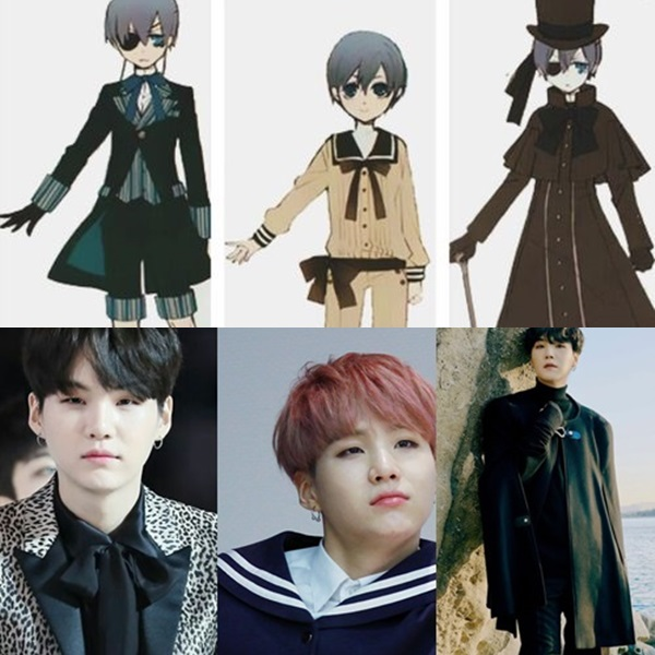 aesthetics, ciel phantomhive, and bts image