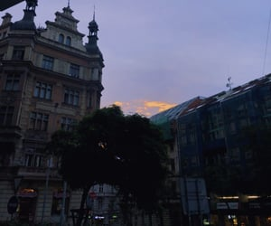 clouds, prague, and purple image