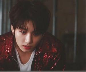 red, fake love, and jungkook image