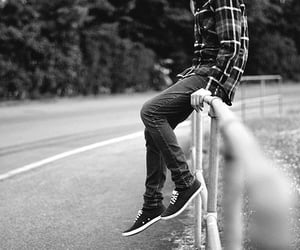guy, sneakers, and street image