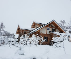 holzhaus, snow, and winter image