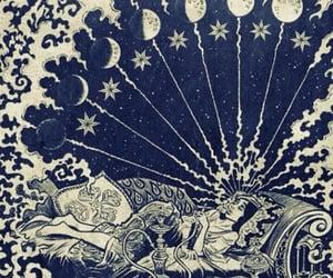 moon, art, and smoke image