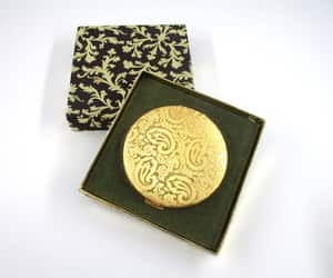 van cleef and arpels, paisley design, and vintage compact image