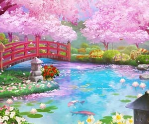 asian, flowers, and beautiful image