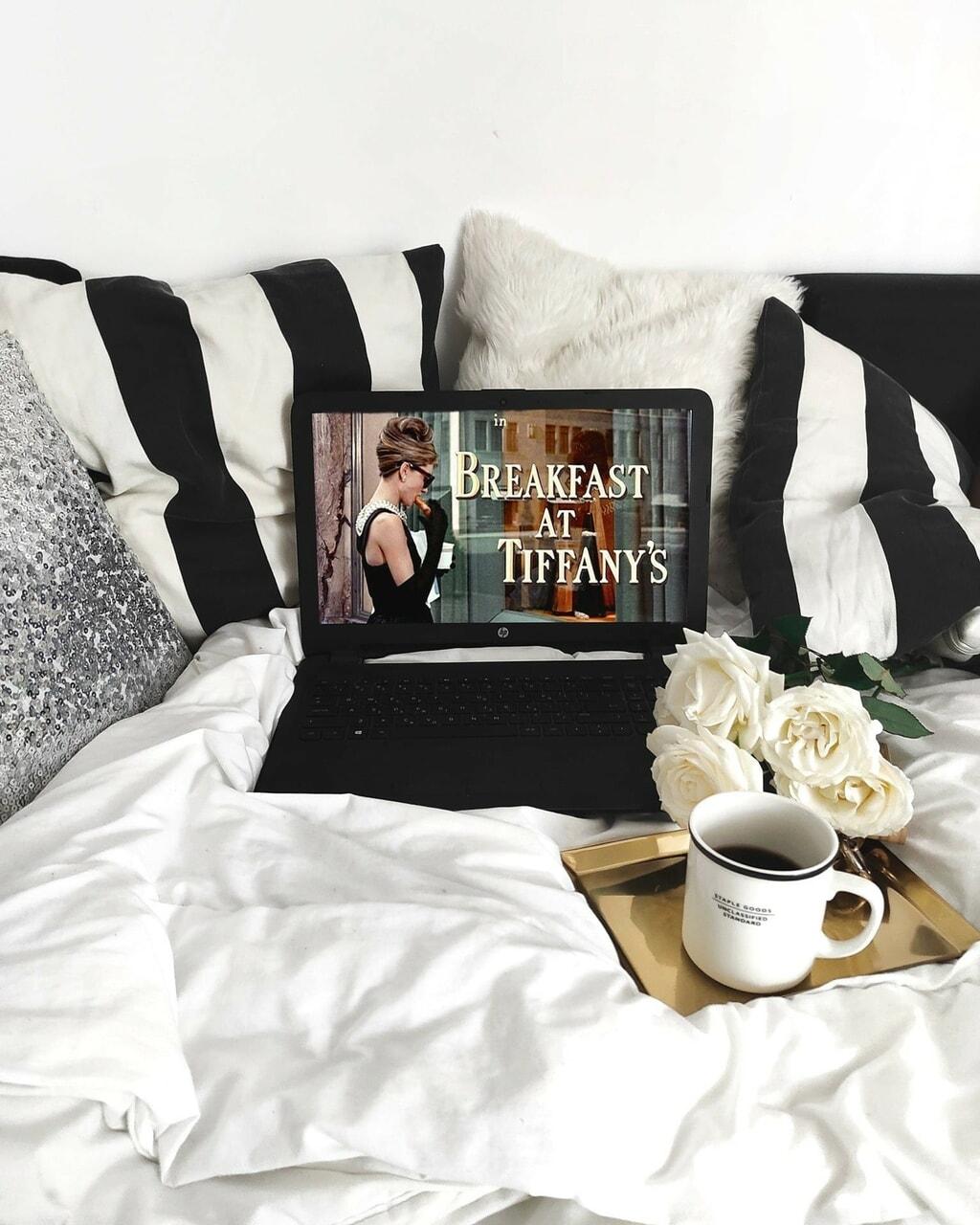 aesthetics, audrey hepburn, and breakfast image