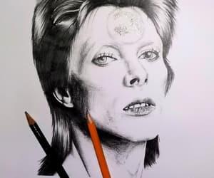 black and white, handmade, and Ziggy Stardust image