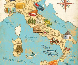italy, map, and travel image