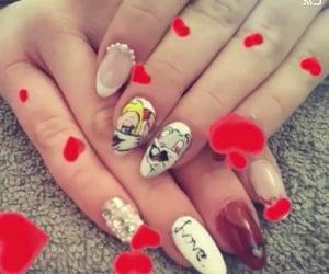 nail art, nails, and be my valentine image