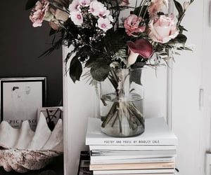 flowers, books, and home image