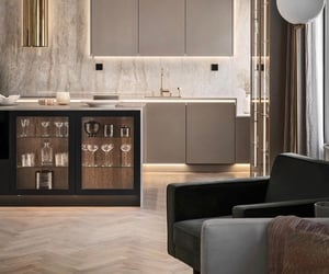 apartment, cabinets, and decor image