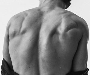 boy, aesthetic, and back muscles image