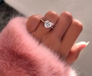 ring, pink, and diamond image
