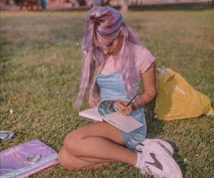 colored hair, colorful hair, and dyed hair image