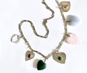 etsy, statement necklace, and natural gemstones image