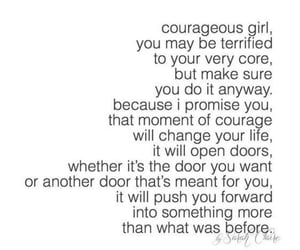 comfort zone, courageous, and dont stop image