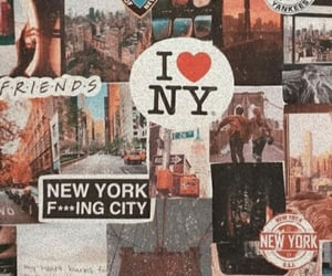 city, Collage, and new york image