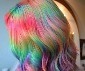 dyed hair, colorful hair, and hairdye image