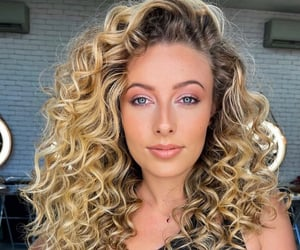 beautifull, blonde, and curls image