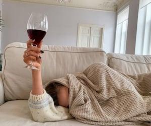 wine, fashion, and cozy image