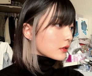 girl, hairstyle, and inspo image