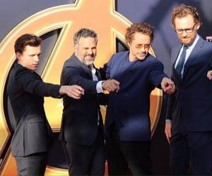 mark ruffalo, tom hiddleston, and tom holland image