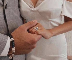 couple, engagement, and girl image