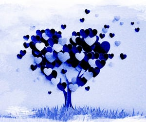 positive vibes, blue, and february image