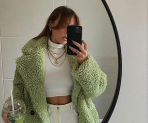 beautiful, coat, and jean image