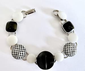 black and white, stacking bracelet, and casual bracelet image